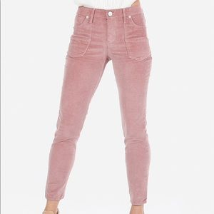 NWT Express Mid Rise Corduroy Front Pocket Jeans